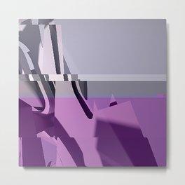 Abstract Glitch 01 Metal Print