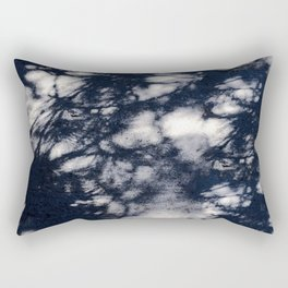 Navy Blue Pine Tree Shadows on Cement Rectangular Pillow