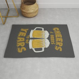 Cheers and Beers on 40 Years Birthday Gift Rug