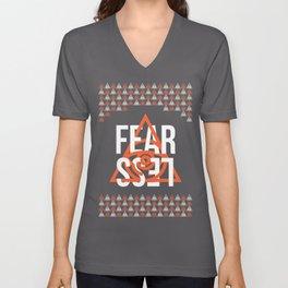 Fear Less Unisex V-Neck
