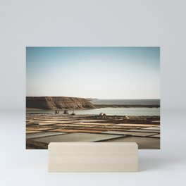 Salinas in front of the beach Mini Art Print