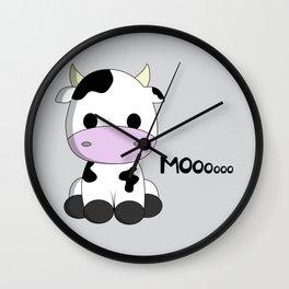 Cute baby cow cartoon Wall Clock