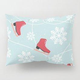 Winter Ice Skating Pillow Sham