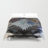 southwest Duvet Covers featuring Frosted Southwest by North 10 Creations