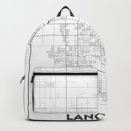 Minimal City Maps - Map Of Lancaster, California, United States Backpack