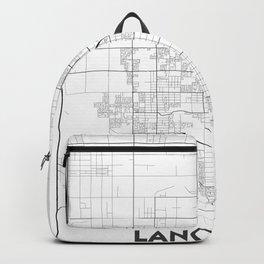 Minimal City Maps - Map Of Lancaster, California, United States Backpack