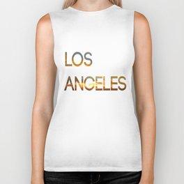 Los Angeles Sunset Tyography Biker Tank