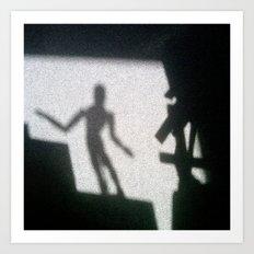 Shadow of the mannikin Art Print