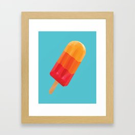 Ice Block Polygon Art Framed Art Print