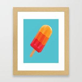 Ice Block Polygon Art Framed Art Print