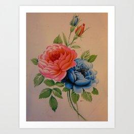 Vintage Roses 10 Art Print