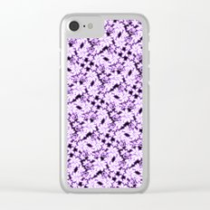 Electric Violet Garden Clear iPhone Case