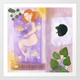 Lavender Bath Art Print