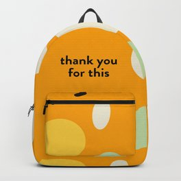 Thank you for this Backpack