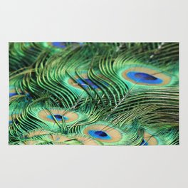 Feather Me Blue & Green (Peacock Feathers) Rug