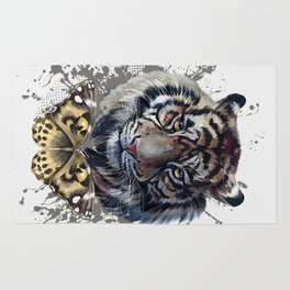 Tiger and Butterfly Rug