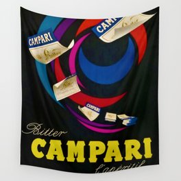 1948 Vintage Bitter Campari Aperitif Lithograph Advertisement Poster Wall Tapestry