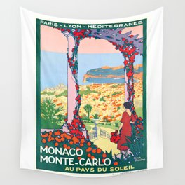 1920 Monaco Monte Carlo In The Land Of Sun Poster Wall Tapestry