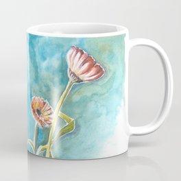 Blooms on Turquoise Coffee Mug