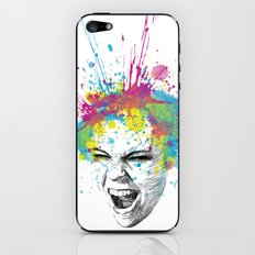 Crazy Colorful Scream iPhone & iPod Skin