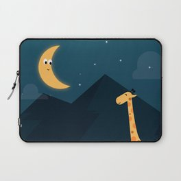 The Giraffe and the Moon Laptop Sleeve