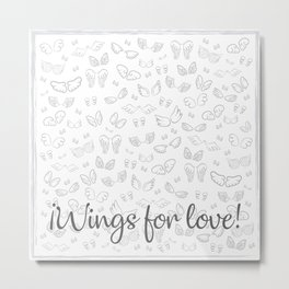 Wings for love Metal Print