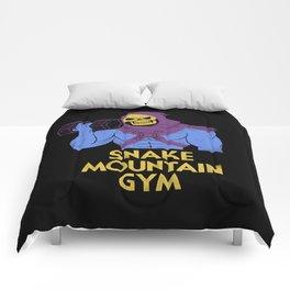 snake mountain gym Comforters