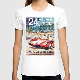 Le Mans poster, 1962, vintage poster, t-shirt, race poster T-shirt