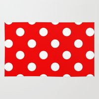 polka dots Area & Throw Rugs featuring Polka dots  by MIKITCHU