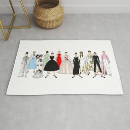 Outfits of Audrey Fashion (White) Rug