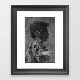 A tribute to Alain Bashung Framed Art Print