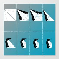 penguin Canvas Prints featuring PENGUIN by ARCHIGRAF