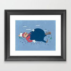 Too Many Mushrooms Framed Art Print