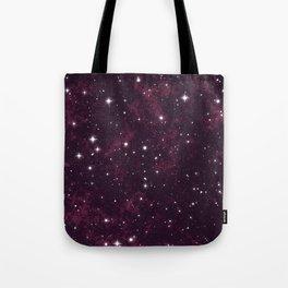 Burgundy Space Tote Bag