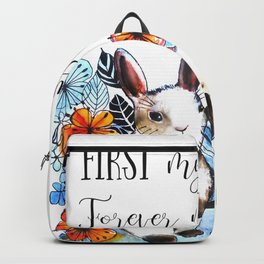Bunny Mummy and Baby Backpack