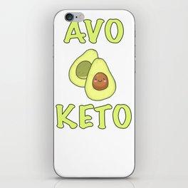 Avocado Keto Diabetes  graphic iPhone Skin