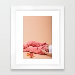 Legs with Grapefruit Framed Art Print