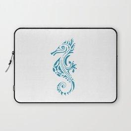 Seahorse tatoo blue Laptop Sleeve