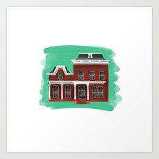 Main Street House 2 - Warren OH Art Print