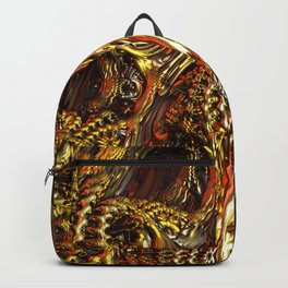 Metallic Fractal Landscape Backpack