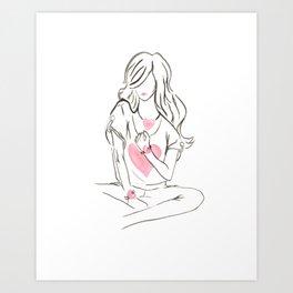 Simply Hearts Art Print