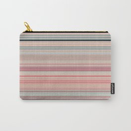 Pink Peach Pastel Stripe Design Carry-All Pouch