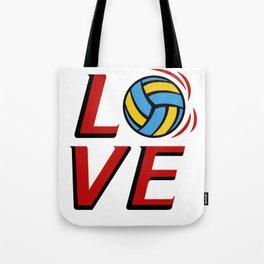 LOVE VOLLEYBALL BEACHVOLLEYBALL GIFT Tote Bag