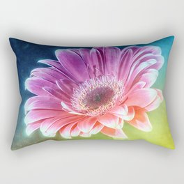 The Gerbera Rainbow Rectangular Pillow