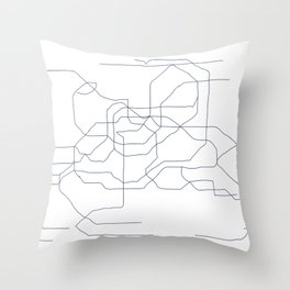 Seoul Subway Throw Pillow