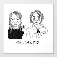 cactei Canvas Prints featuring Palo Alto by ☿ cactei ☿
