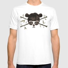 Pirate Panda Mens Fitted Tee MEDIUM White