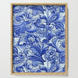 Blue and White Porcelain Serving Tray