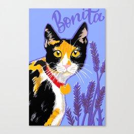 Bonita the cat Canvas Print