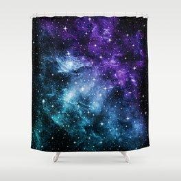 Purple Teal Galaxy Nebula Dream #1 #decor #art #society6 Shower Curtain
